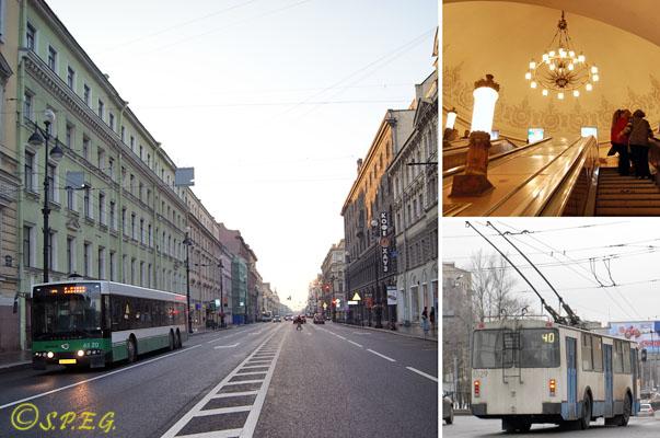 Travel in St Petersburg, Russia.