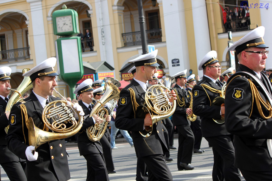 Photo of the Victory Day Parade, St Petersburg, Russia.
