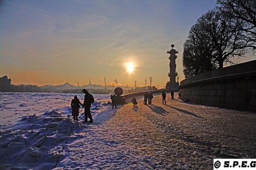Winter in St Petersburg Russia.
