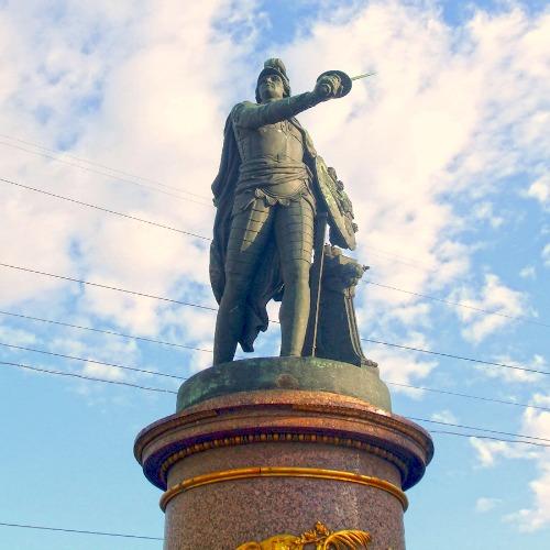 General Alexander Suvorov shown as Roman God of War Mars