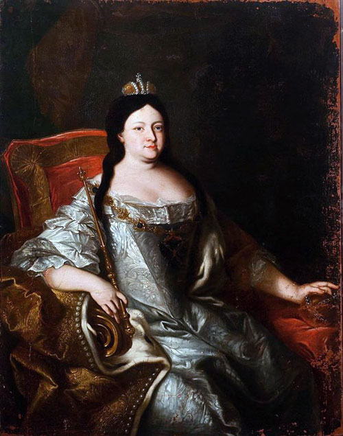 A portrait of Anna Ioannovna, the first empress of Russia.