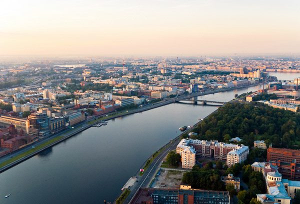 Panoramic view of Aptekarsky Island in St. Petersburg Russia - Photo Courtesy by Ignat Chernyaev.
