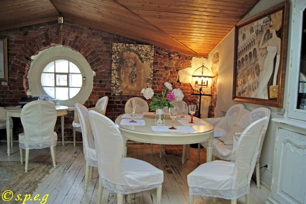 A Look Inside Artist's Attic Fondue Bar in St Petersburg, Russia.