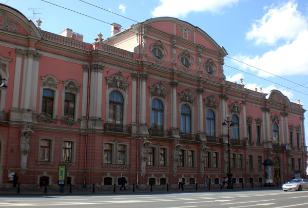 The Belozerskiy Palace in St. Petersburg Russia.