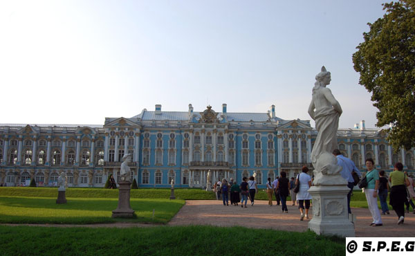 Catherine Palace in Tsarskoye Selo outside St Petersburg, Russia