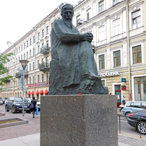 Monument dedicated to F. Dostoyevsky (Russian Writer).