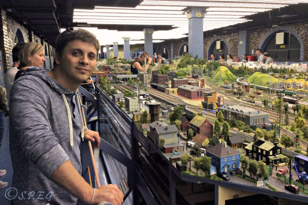 A photo of me (Davide) at the Grand Maket of Russia museum in St Petersburg.