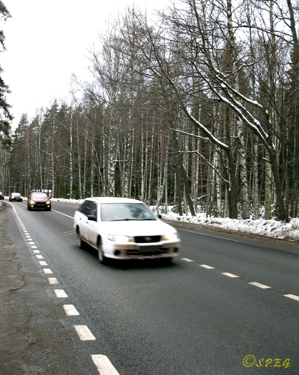 Road linking Helsinki to St Petersburg.