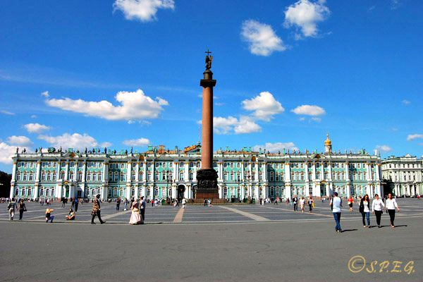 The Hermitage Museum and Winter Palace in St. Petersburg Russia.