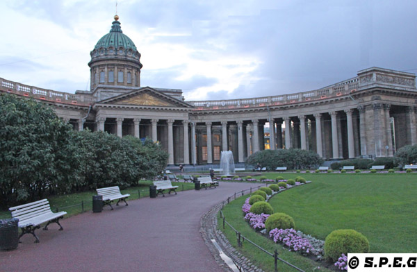 Kazan Cathedral in St Petersburg Russia