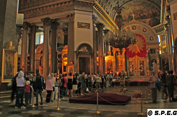 Interiors of Kazansky Cathedral