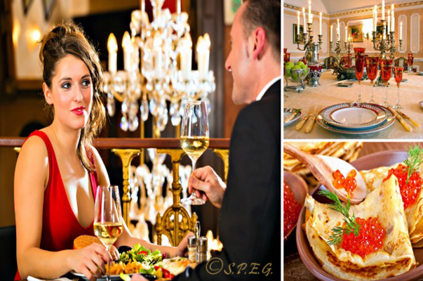 Luxury Restaurants A Having Dinner In Luxurious Restaurant St Petersburg