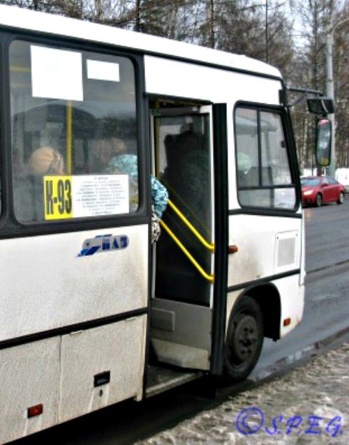Another photo of the Russian Minibus Marshrutka.