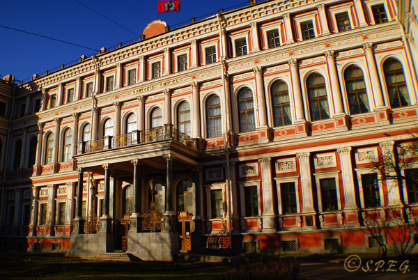 The Nikolas Palace in St. Petersburg Russia.