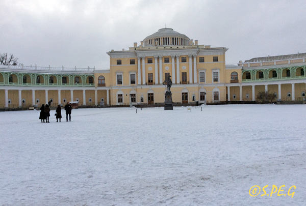 The Pavlovsk Palace in winter