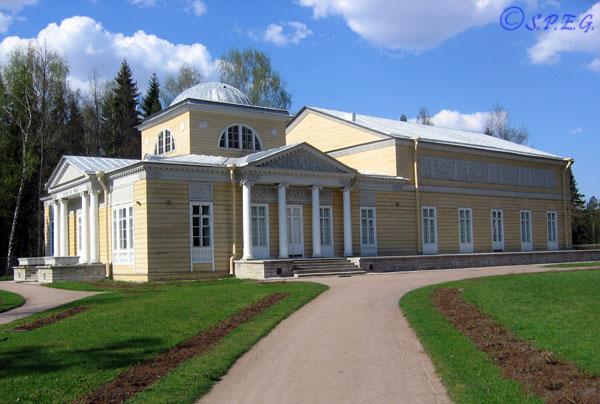 A Royal building inside the Pavlovsk Park outside St Petersburg, Russia.