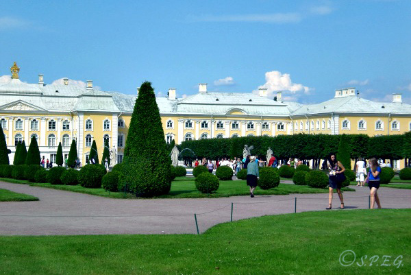 Peterhof's garden near St Petersburg, Russia.