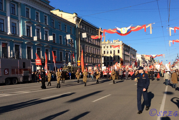 Russia Victory Day Parade in St Petersburg Russia.