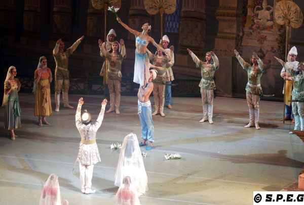 Russian ballet during winter in St Petersburg Russia