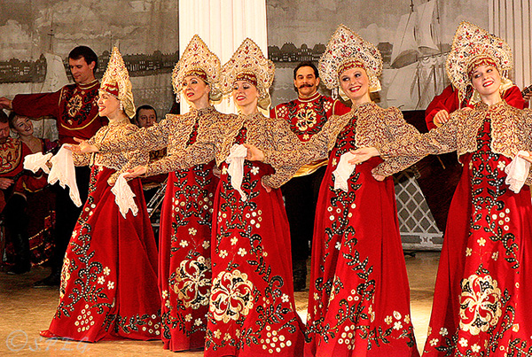The Russian folk show at Nicholas Palace in St Petersburg, Russia.