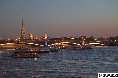 St Petersburg By Boat