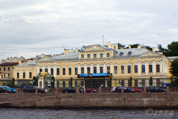 The Sheremetev Palace in St. Petersburg Russia.