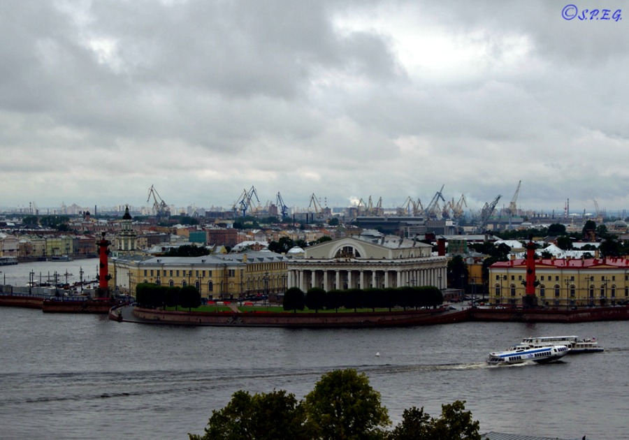 View of Vasiliesvkiy Island, St Petersburg, Russia.