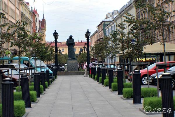 Nikolai Gogol Street in St Petersburg, Russia.