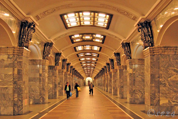 A look inside the picturesque metro of St Petersburg, Russia.