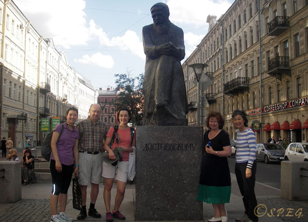 Photo with our tour guide Natalia and our visitors from USA taken in June 2016 during a city tour.