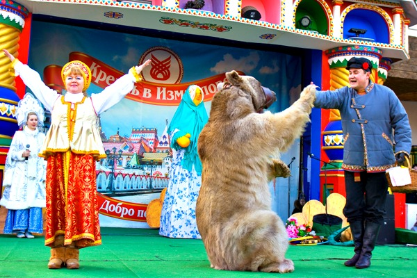 A Russian performance at the Bolshoi State Circus in St Petersburg, Russia.