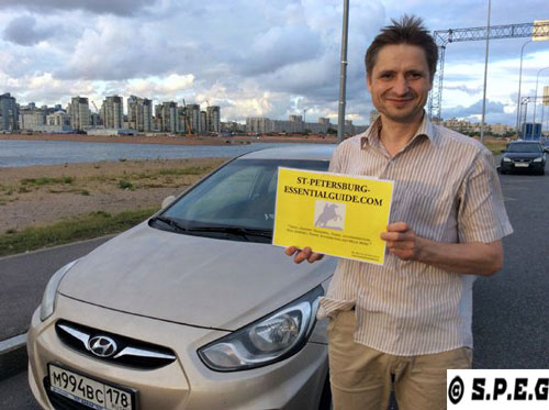 Book one of our taxis in St Petersburg and meet with Vladimir here in the photo.