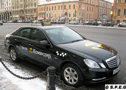 Taxis in St Petersburg Russia