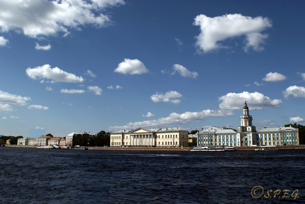 The Bolshaya Neva in St. Petersburg Russia.