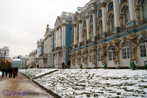 The Catherine Palace in Tsarskoye Selo.