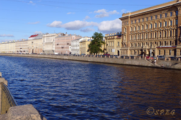 The Fontanka River in St. Petersburg Russia.