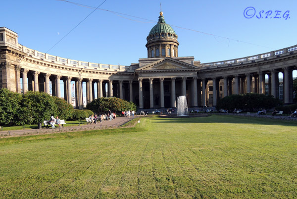 The famous Kazan Cathedral in St. Petersburg Russia.
