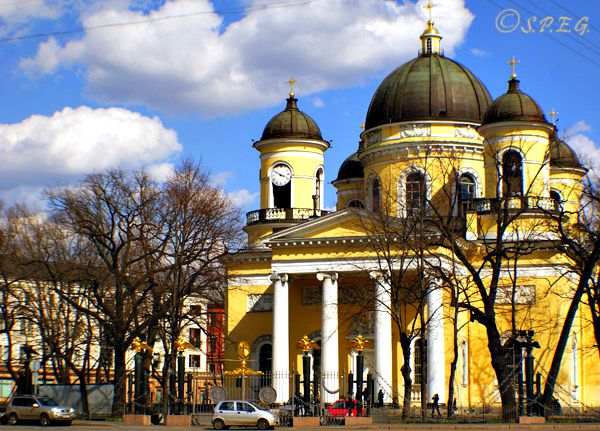 The Transfiguration Cathedral in St. Petersburg Russia.