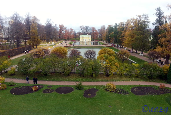View of the Catherine Park in the village of Tsarskoye Selo.