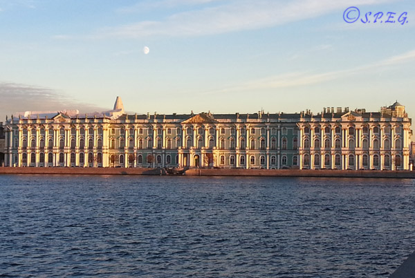 The Winter Palace in St. Petersburg Russia.