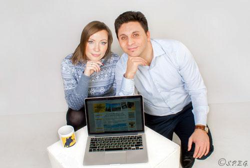 Anastasia & Davide Founders of St Petersburg Essential Guide Travel Website