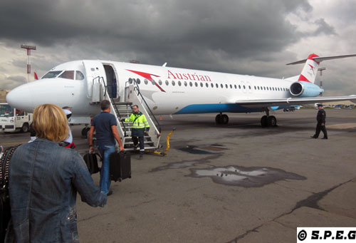 Flight to St Petersburg from Vienna with Austrian Airline