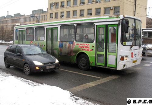 Buses in St Petersburg, Russia