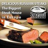 Stroganoff Steak House Restaurant in St Petersburg Russia.