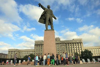 Statue of Lenin - St. Petersburg Russia