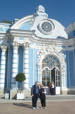 My husband and I at Catherine Palace in St Petersburg, Russia.