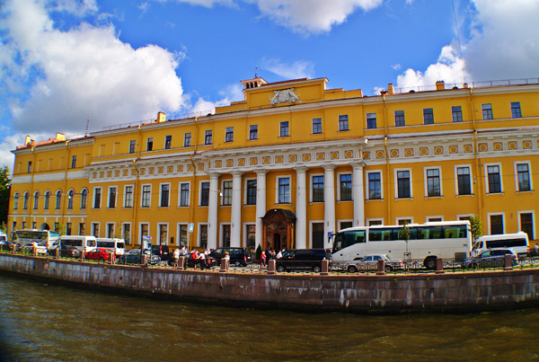 The Yusupov Palace in St. Petersburg Russia.