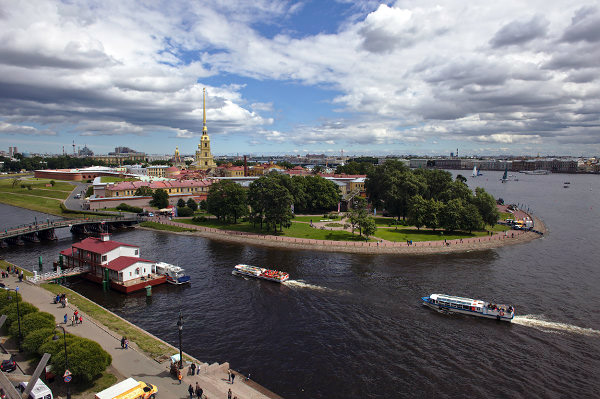 The Little Hare Island, where the famous Peter and Paul Fortress is located - Photo Courtesy by Anton Vagano.